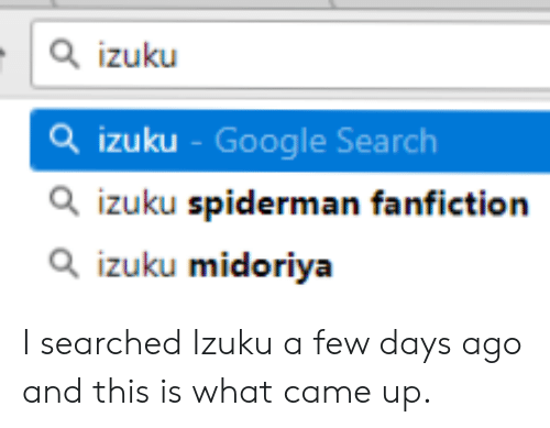Izuku Q Izuku - Google Search Q Izuku Spiderman Fanfiction