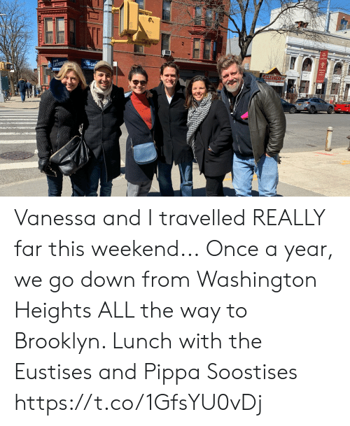 Memes, Brooklyn, and All The: J&K  CLEANERS Vanessa and I travelled REALLY far this weekend... Once a year, we go down from Washington Heights ALL the way to Brooklyn.  Lunch with the Eustises and Pippa Soostises https://t.co/1GfsYU0vDj