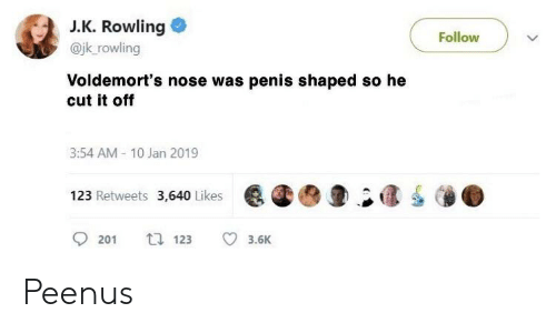 Penis shaped nose
