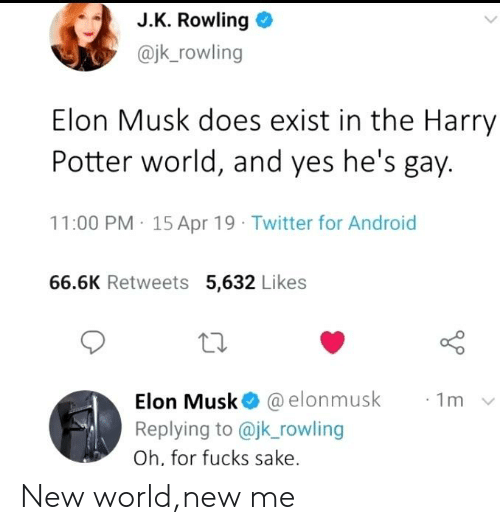 JK Rowling Elon Musk Does Exist in the Harry Potter World