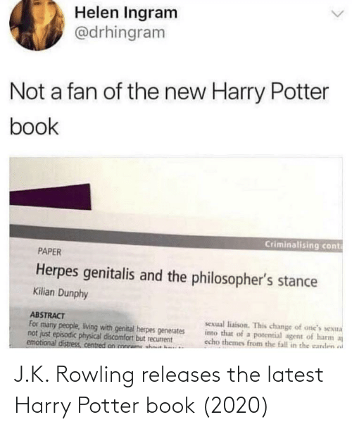 Harry Potter, Book, and J. K. Rowling: J.K. Rowling releases the latest Harry Potter book (2020)
