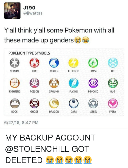 J190 Yall Think Yall Some Pokemon With All These Made Up Genders