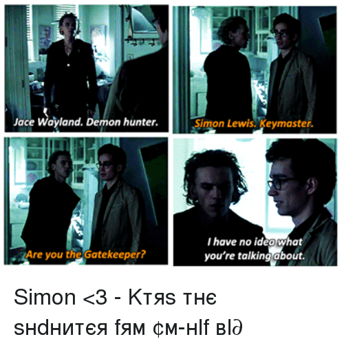 Jace Wayland Demon Hunter Are You The Gatekeeper Simon Lewis