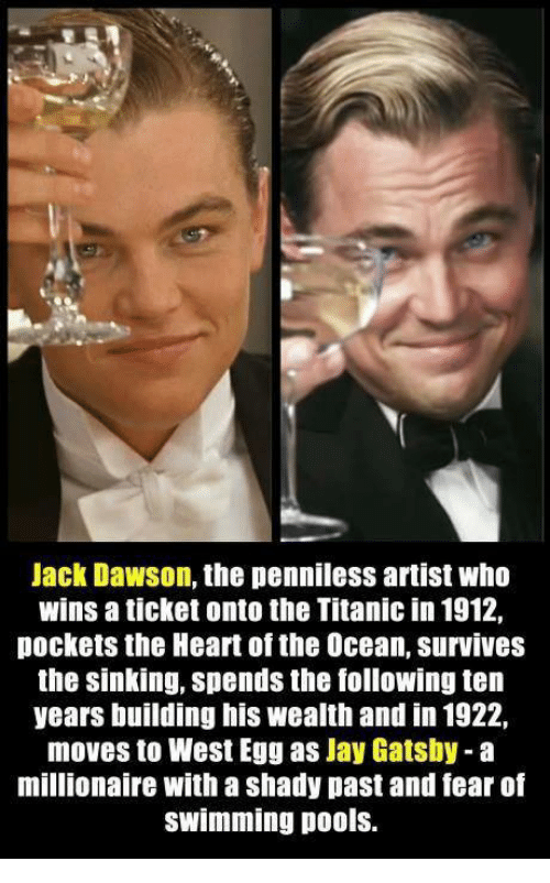 25 best memes about jay gatsby jay gatsby memes for Jay gatsby fear of swimming pools