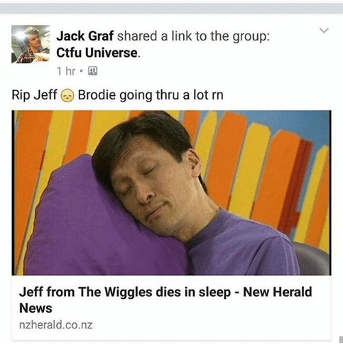 jack graf shared a link to the group ctfu universe 21247407 jack graf shared a link to the group ctfu universe 1 hr rip jeff