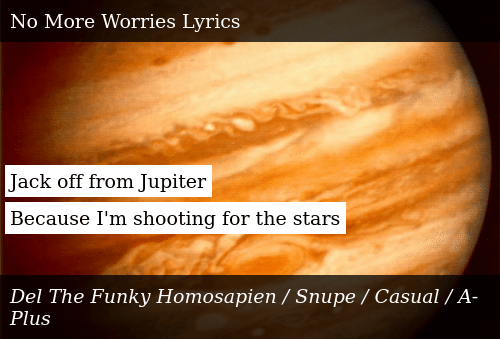 Jack Off From Jupiter Because I'm Shooting for the Stars   Donald