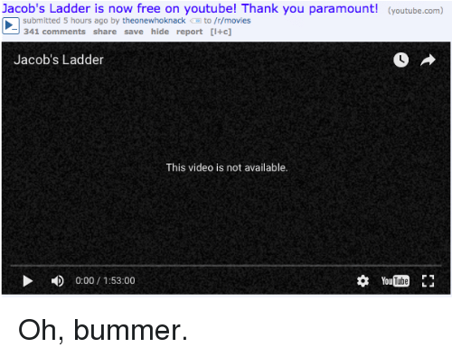 Jacob's Ladder Is Now Free on Youtube! Thank You Paramount