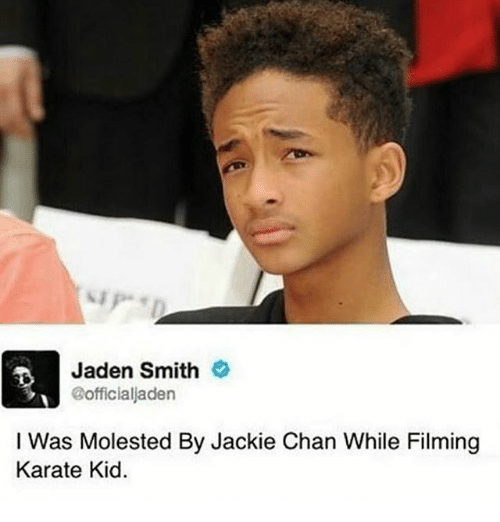 Jaden Smith I Was Molested by Jackie Chan While Filming ...