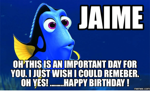 jaime oh this is an important day for you just 17861407 jaime oh this is an important day for you just wishicould remeber