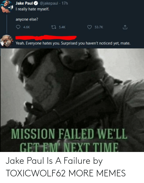Dank, Memes, and Target: Jake Paul Is A Failure by TOXICWOLF62 MORE MEMES