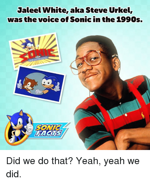 jaleel white aka steve urkel was the voice of sonic 965906 ✅ 25 best memes about steve urkel steve urkel memes