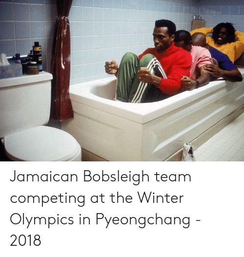 Winter, Olympics, and Team: Jamaican Bobsleigh team competing at the Winter Olympics in Pyeongchang - 2018