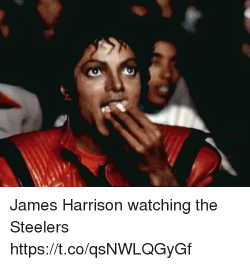 Tom Brady, Steelers, and James Harrison: James Harrison watching the Steelers https://t.co/qsNWLQGyGf