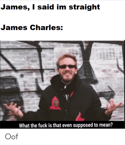 Fuck, Mean, and James: James, I said im straight  James Charles:  What the fuck is that even supposed to mean? Oof