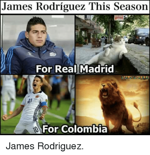 james rodriguez this season for real madrid for colombia james 2777581 james rodriguez this season for real madrid for colombia james,Colombia Meme