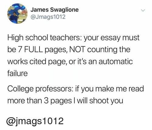 james swaglione high school teachers your essay must be  full pages  college school and dank memes james swaglione jmags high school  teachers