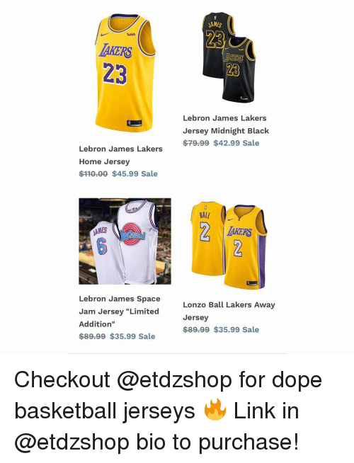 low priced 1bcbb 32ecb JAMES Wish AKERS 23 Lebron James Lakers Jersey Midnight ...