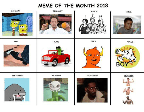 Funniest Meme March 2018 : January may meme of the month february march july