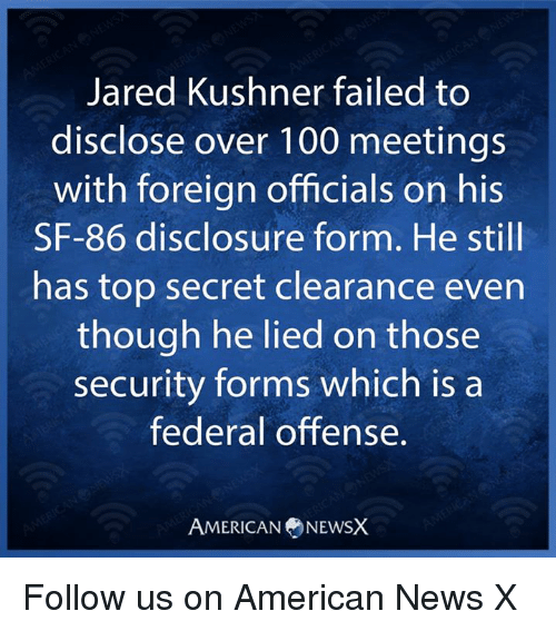 Jared Kushner Failed to Disclose Over 100 Meetings With Foreign