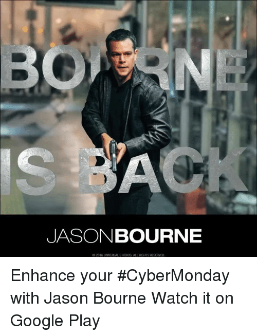 Jason Bourne 2016 Universal Studios All Rights Reserved Enhance Your