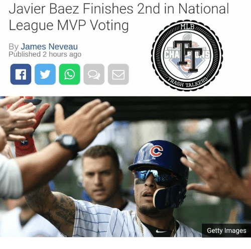 Ash, Memes, and Getty Images: Javier Baez Finishes 2nd in National  League MVP Voting  By James Neveau  Published 2 hours ago  ASH TALK  Getty Images