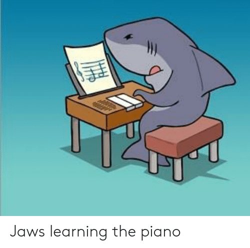 Jaws Learning the Piano | Funny Meme on ME ME