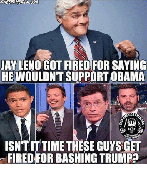 Jay Leno Fired For Not Supporting Obama