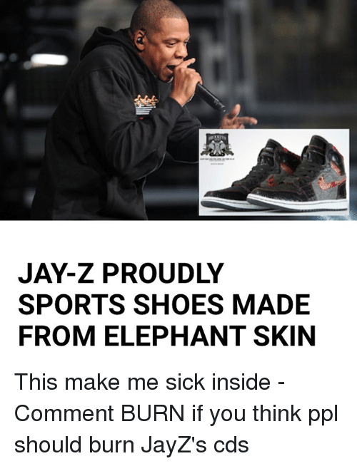 jay z proudly sports shoes made from elephant skin this make 26142702 jay z proudly sports shoes made from elephant skin this make me sick