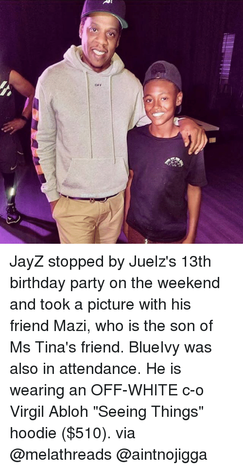 JayZ Stopped By Juelzs 13th Birthday Party On The Weekend And Took