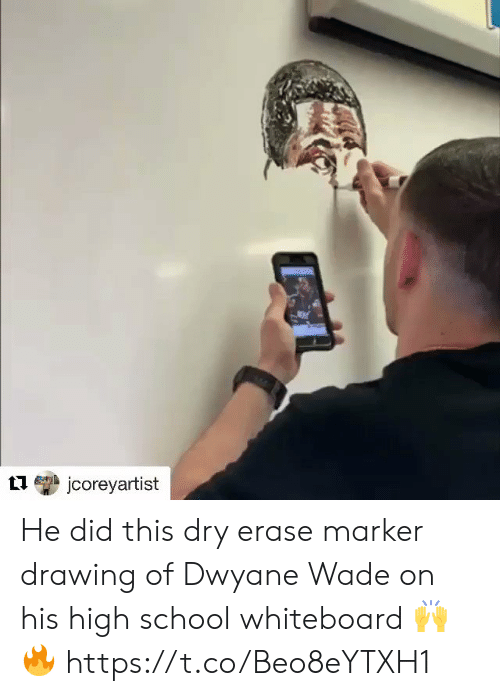 Jcoreyartist He Did This Dry Erase Marker Drawing Of