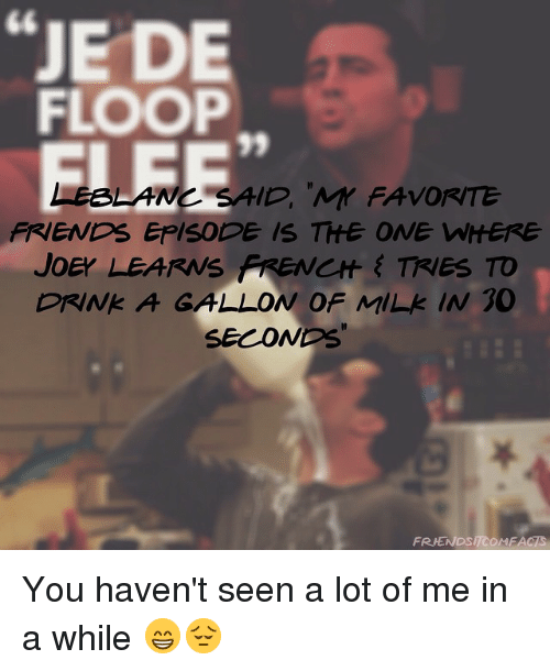 Friends That You Havent Seen In Awhile Quotes : Best memes about friends episodes