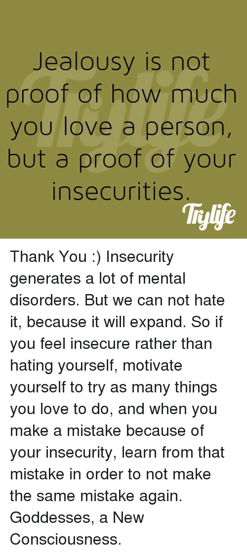 how to not feel insecure