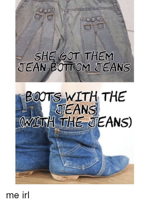 JEAN BOTTOM JEANS BOOTS WITH THE JEANS