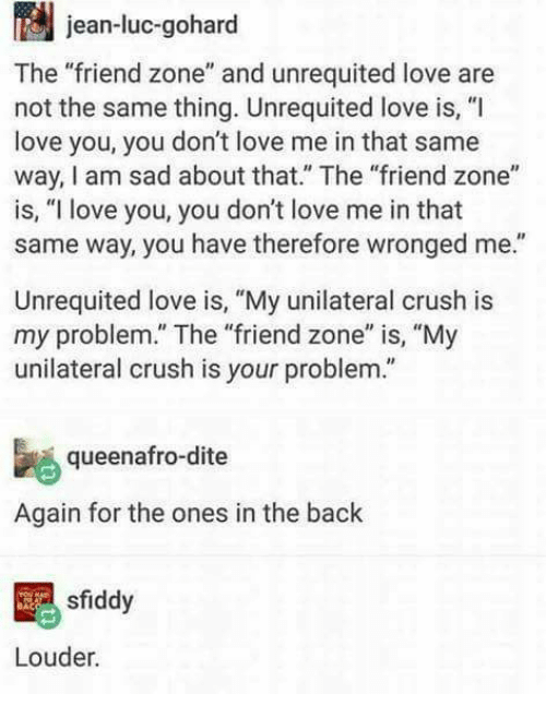Unrequited crush