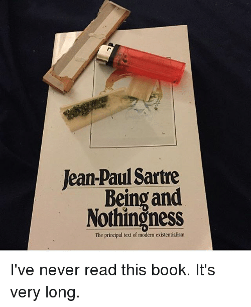 a book analysis of being and nothingness by jean paul sartre Jean-paul sartre: basic writings is the first collection of sartre's key of the ego  and nothingness in the second part i am making no claim to jean-paul sartre being.