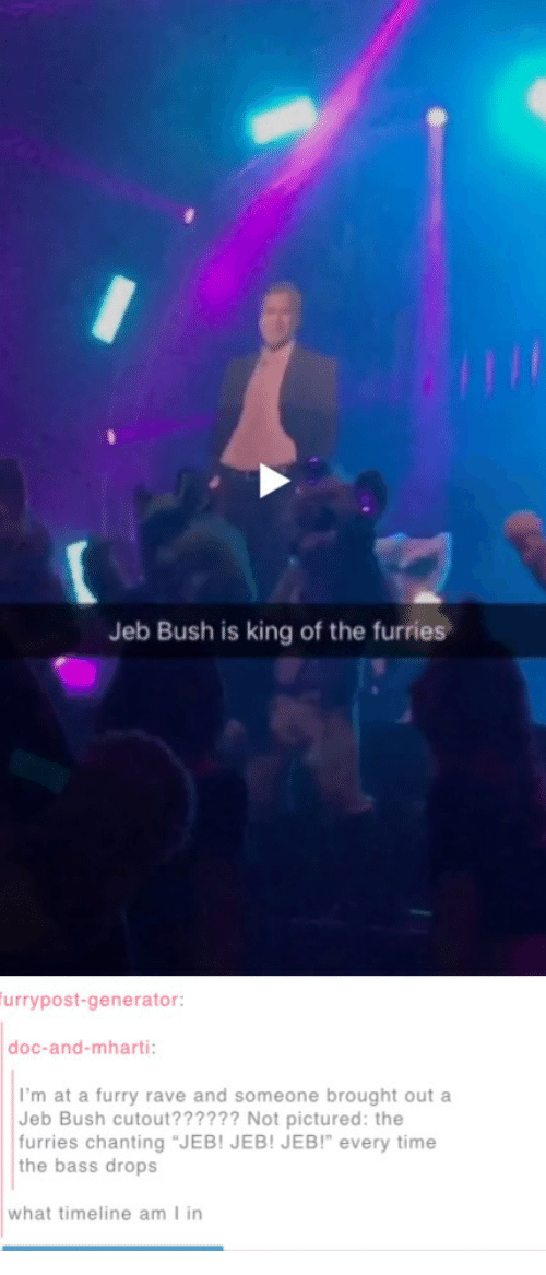Jeb Bush Is King Of The Furries Urry Post Generator Doc And Mharti I