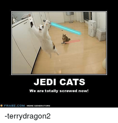 jedi cats we are totally screwed now frabz com meme generators 467651 ✅ 25 best memes about sports meme generator sports meme