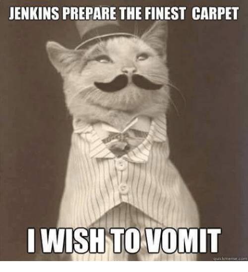 Jenkins Prepare The Finest Carpet I Wish To Vomit Quick