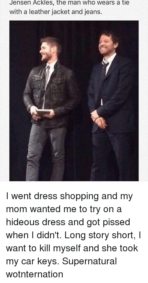 Jensen ackles the man who wears a tie with a leather jacket and memes and jeans jensen ackles the man who wears a tie ccuart Gallery