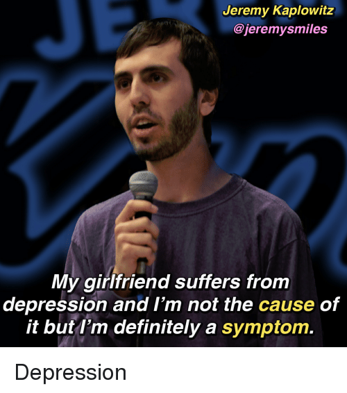 girlfriend suffers from depression