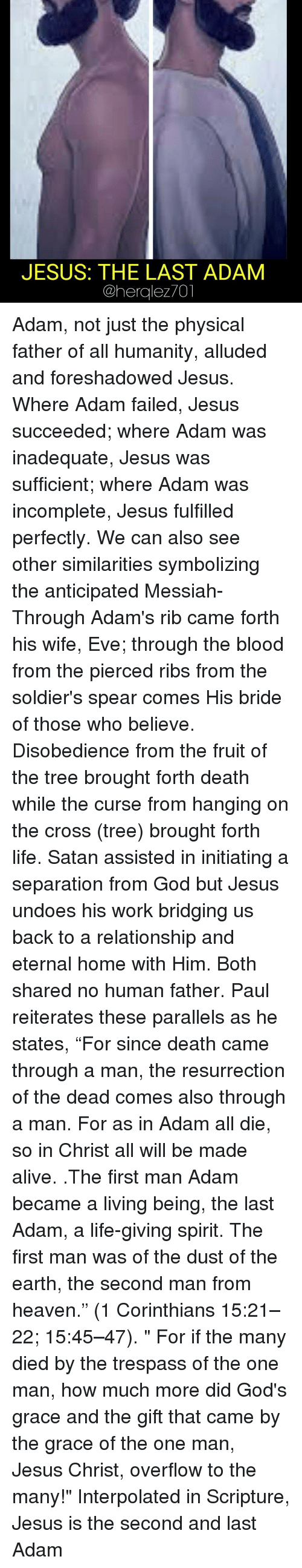 death through adam life through christ Christ, the second adam :  the second adam righteousness & life through christ  he would have us know that adam is mankind's representative unto sin and death.