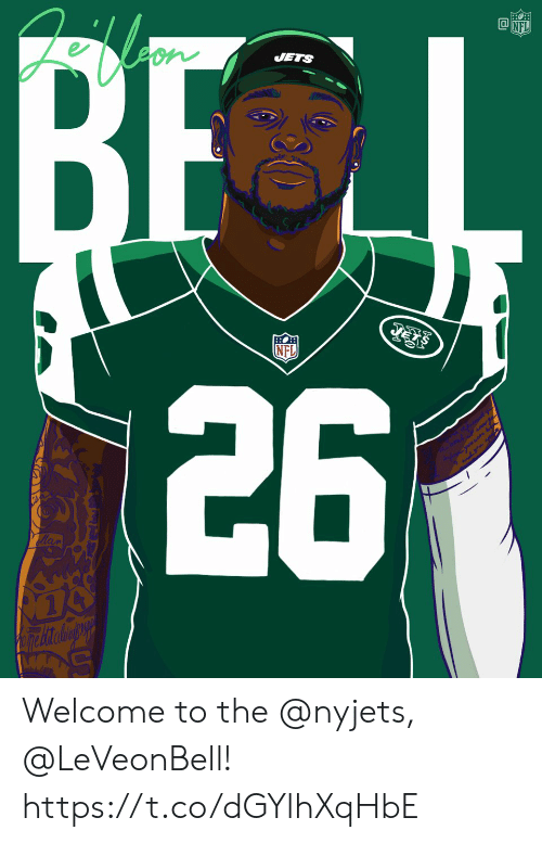 Memes, Nfl, and Jets: JETS  NFL Welcome to the @nyjets, @LeVeonBell! https://t.co/dGYlhXqHbE