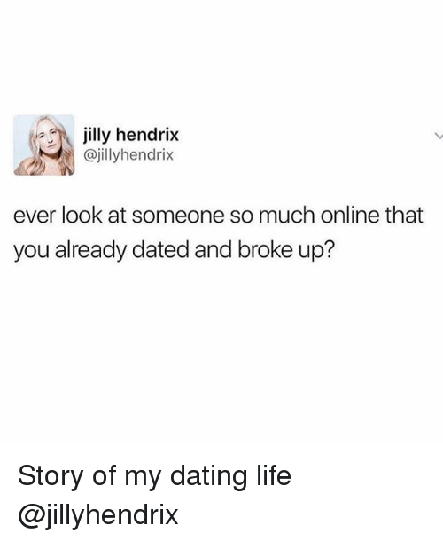 online dating broke up