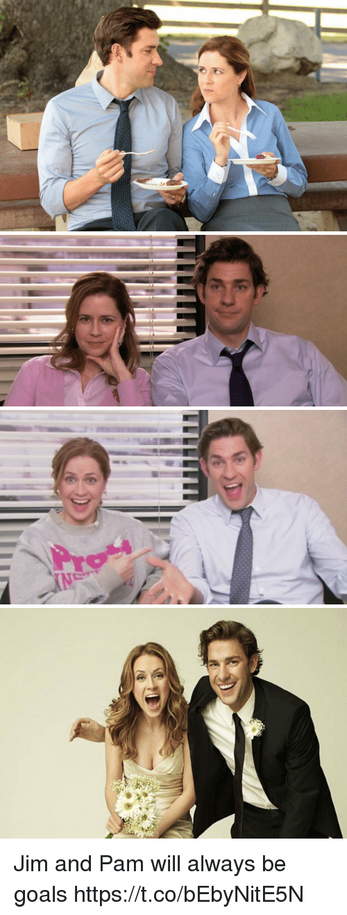 Goals, Will, and Pam: Jim and Pam will always be goals https://t.co/bEbyNitE5N