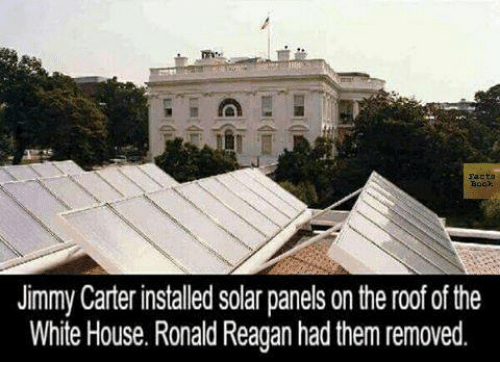 Jimmy Carter Installed Solar Panels On The Roof Ofthe