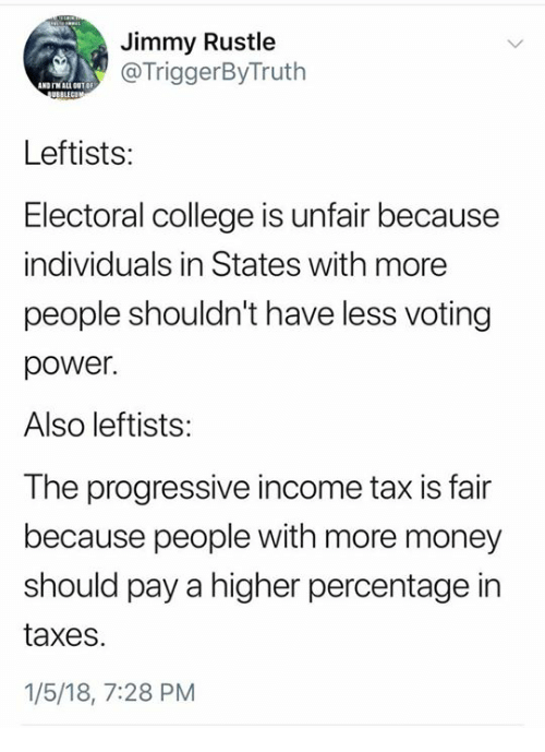jimmy rustle andtm all out df leftists electoral college is unfair