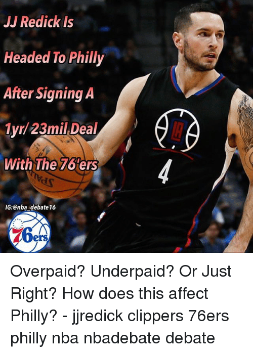 detailed look 858b3 c84d4 JJ Redick Is Headed to Philly After Signing a 1yr 23mil Deal ...