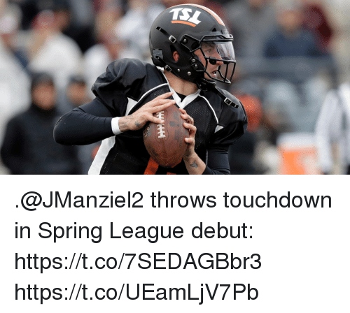 Memes, Spring, and 🤖: .@JManziel2 throws touchdown in Spring League debut: https://t.co/7SEDAGBbr3 https://t.co/UEamLjV7Pb