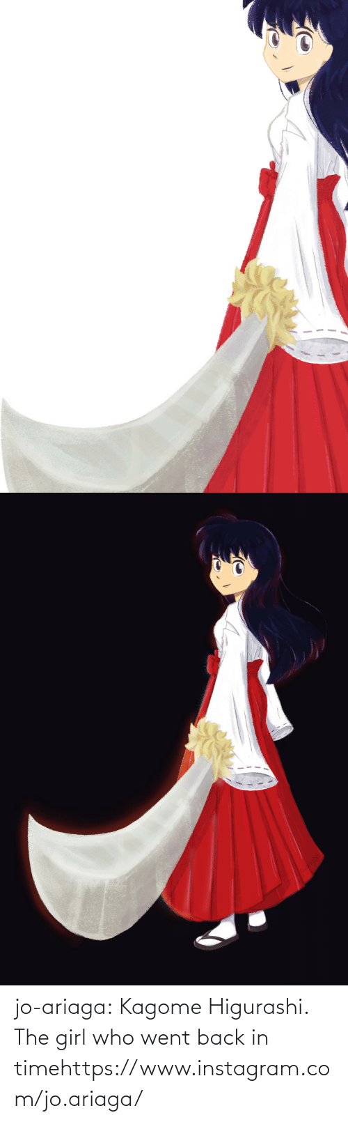 Instagram, Target, and Tumblr: jo-ariaga:  Kagome Higurashi. The girl who went back in timehttps://www.instagram.com/jo.ariaga/