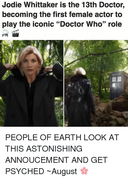 jodie whittaker is the 13th doctor becoming the first female 25404637 jodie whittaker is the 13th doctor becoming the first female actor,Female Doctor Meme
